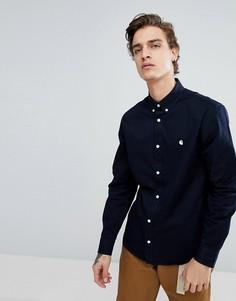 Темно-синяя оксфордская рубашка с длинными рукавами Carhartt WIP Madison - Темно-синий