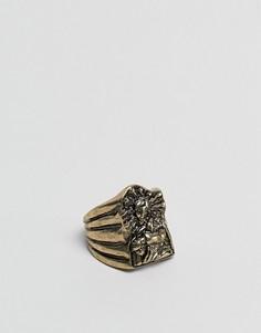 Золотистое оверсайз-кольцо ASOS - Золотой