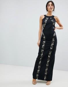 Платье макси с бретелью через шею Paperdolls - Мульти