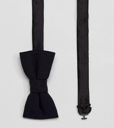 Трикотажный галстук‑бабочка Noak - Темно-синий