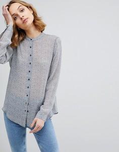 Шелковая рубашка без воротника M.i.h Evelyn - Синий MiH Jeans