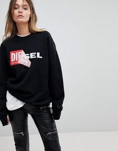 Свитшот с логотипом Diesel - Черный