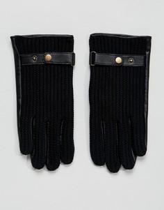 Черные кожаные автомобильные перчатки ASOS - Черный