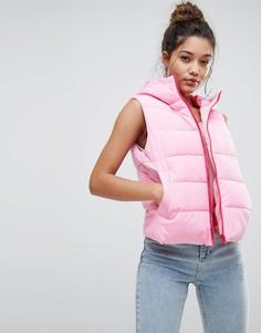 Дутый жилет ASOS - Розовый