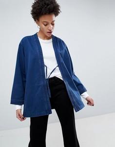 Куртка-кимоно с поясом Waven Imma Unisex - Синий