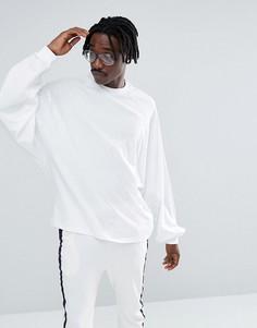 Белая оверсайз-футболка с длинными рукавами летучая мышь ASOS - Белый