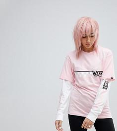 Розовая двухслойная футболка Vans эксклюзивно для ASOS - Розовый
