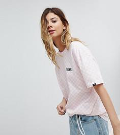 Розовая футболка оверсайз в шахматную клетку Vans эксклюзивно для Asos - Розовый