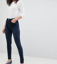 Темно-синие премиум-джинсы с завышенной талией ASOS TALL Sculpt Me - Синий