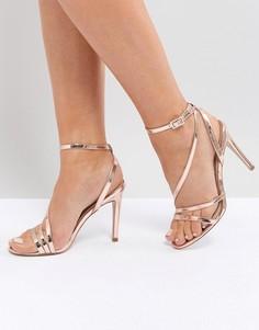 Босоножки на каблуке ASOS HOMECOMING - Золотой