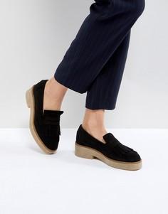 Замшевые туфли на плоской подошве ASOS MAZE - Черный