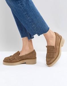 Замшевые туфли на плоской подошве ASOS MAZE - Бежевый