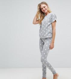 Пижамный комплект со звездным принтом ASOS TALL - Мульти
