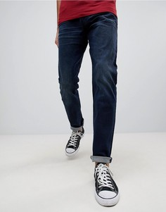 Темные суженные книзу джинсы G-Star 3301 - Темно-синий