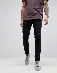Суперузкие джинсы из необработанного денима G-Star Rackam - Темно-синий