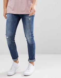 Синие джинсы слим G-Star Revend - Синий