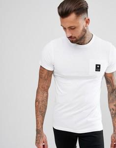 Белая футболка с логотипом на кармане G-Star BeRaw - Белый
