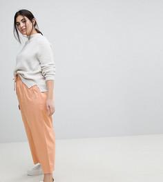 Розовые широкие брюки ASOS CURVE - Розовый