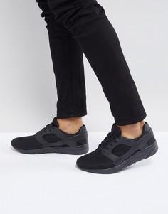 Черные сетчатые кроссовки с резиновыми вставками ASOS - Черный
