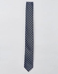 Узкий галстук в горошек Jack & Jones - Темно-синий