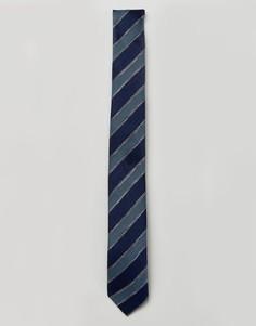 Узкий галстук с полосками Jack & Jones - Темно-синий