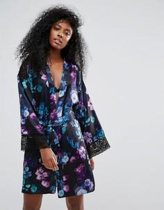 Кимоно с цветочным принтом Lipsy Lori - Синий