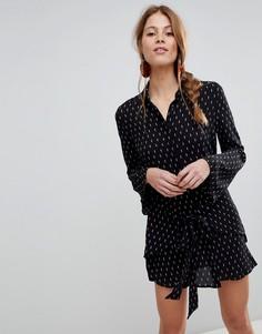 Платье-рубашка в горошек QED London - Черный