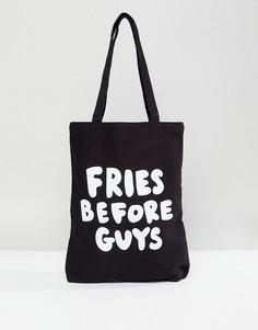Сумка-тоут Ban.Do Fries Before Guys - Черный