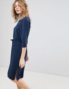 Платье с поясом Ichi - Темно-синий