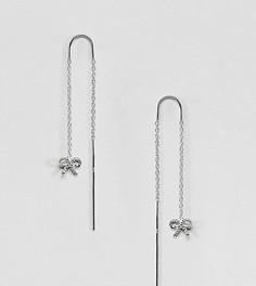 Серебряные серьги в винтажном стиле с цепочками и бантами Olivia Burton - Серебряный