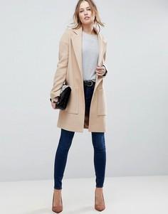 Пальто с карманами ASOS - Светло-бежевый