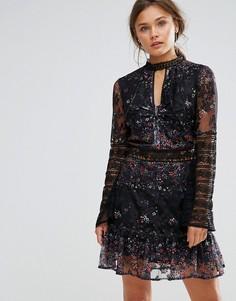 Кружевное платье Liquorish - Черный
