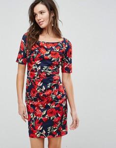 Платье со сборками и цветочным принтом Uttam Boutique - Мульти