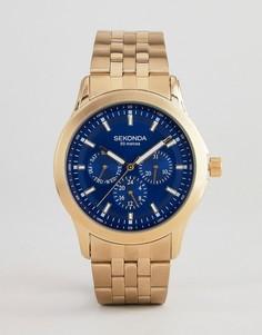 Наручные часы золотистого цвета с хронографом Sekonda эксклюзивно для ASOS - Золотой