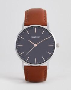 Часы с коричневым ремешком и черным циферблатом Sekonda эксклюзивно для ASOS - Коричневый