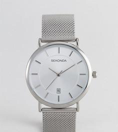 Серебристые часы с сетчатым браслетом Sekonda эксклюзивно для ASOS - Серебряный