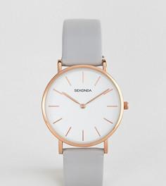 Часы с серым кожаным ремешком Sekonda эксклюзивно для ASOS - Серый