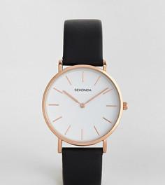 Черные часы с кожаным ремешком Sekonda эксклюзивно для ASOS - Черный