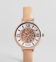 Часы с кожаным ремешком и видимым механизмом Sekonda эксклюзивно для ASOS - Бежевый