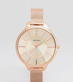 Розово-золотистые часы с сетчатым браслетом Sekonda эксклюзивно для ASOS - Золотой