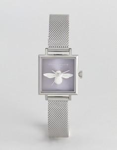 Часы с 3D-пчелой Olivia Burton OB16AM136 - Серебряный