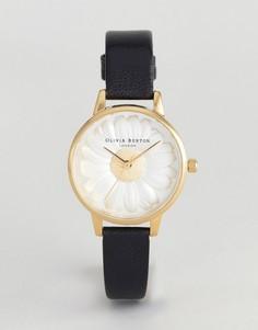Часы с черным кожаным ремешком Olivia Burton OB15EG38 3D - Черный