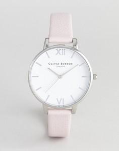 Часы с розовым кожаным ремешком и белым циферблатом Olivia Burton OB16BDW34 - Розовый