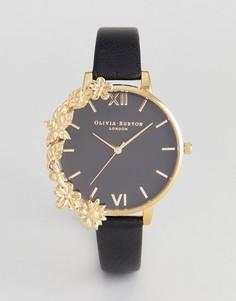 Часы с черным кожаным ремешком Olivia Burton OB16CB07 - Черный