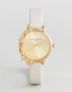Часы с бежевым кожаным ремешком Olivia Burton OB16CB10 - Бежевый