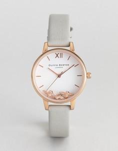 Часы с серым кожаным ремешком Olivia Burton OB16CH03 - Серый