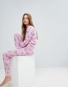 Пижамный комплект Chelsea Peers Dinomite - Розовый