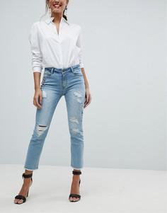 Рваные джинсы скинни с декоративной отделкой Morgan - Синий