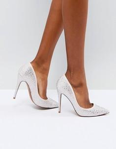 Декорированные туфли на высоком каблуке ASOS PROMISE - Бежевый