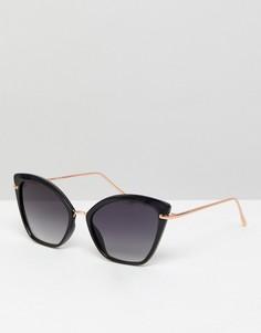 Солнцезащитные очки «кошачий глаз» ASOS - Черный